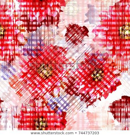 бесшовный геометрическим рисунком эффект Гранж Элементы Круги Сток-фото © Sonya_illustrations