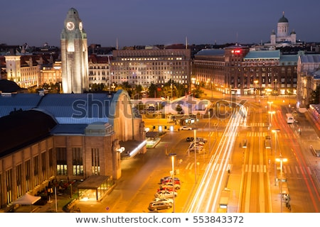 railway tracks in downtown helsinki stock photo © benkrut