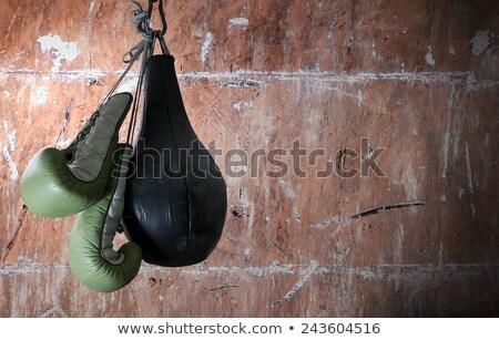 Közelkép homokzsák akasztás fitnessz stúdió sportok Stock fotó © wavebreak_media
