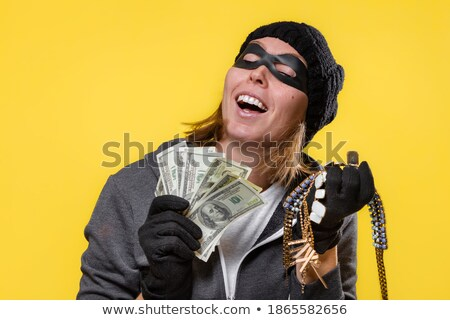 Robber Wearing Gloves Stealing Jewelry Stock photo © AndreyPopov