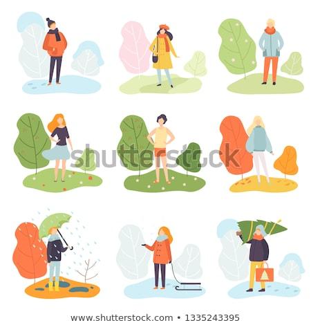 Nine different outdoor nature scenes Stock photo © bluering