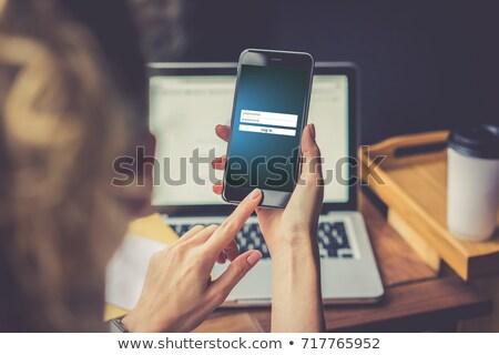Smartphone Text Kennwort Display Computer Telefon Stock foto © Zerbor