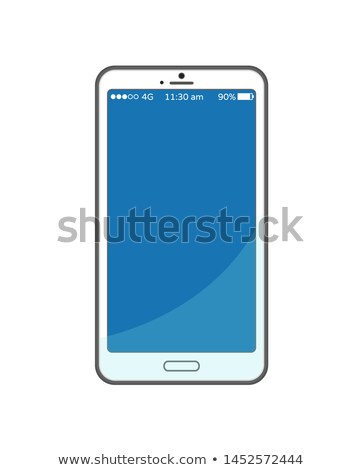 Blue Empty Mobile Phone Screen Time and Charge Stock photo © robuart