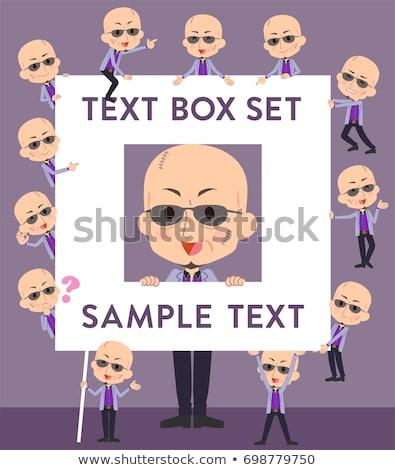 japanese mafia yakuza mentext box stock photo © toyotoyo