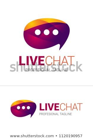 ライブ チャット ロゴ 企業 ビジネス 抽象的な ストックフォト © amanmana