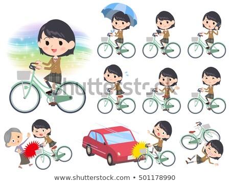 ブラウン ブレザー 市 自転車 セット ストックフォト © toyotoyo