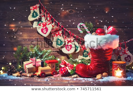 Little Santa Claus boot Stock photo © BarbaraNeveu