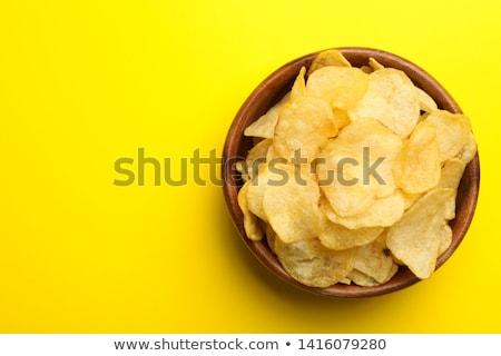 Ciotola croccante chip sopra shot Foto d'archivio © dash