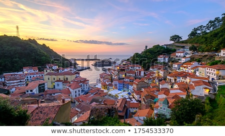 cudillero port in asturias spain stock photo © lunamarina