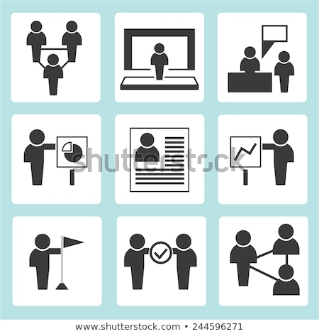 Success and Co-opeation Set Vector Illustration Stock photo © robuart