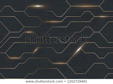 seamless vector futuristic dark iron techno texture golden abstract electron energy line on brushed stock photo © iaroslava