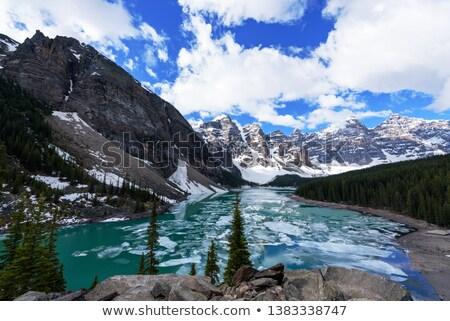 buz · kapak · buzul · göl · dağ - stok fotoğraf © Mps197