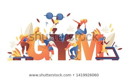 Sport groot ingesteld cartoon illustratie Stockfoto © izakowski