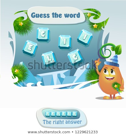 guess the word icicle Stock photo © Olena