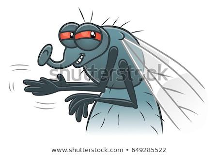 Sinsi karikatür uçmak örnek gülen Stok fotoğraf © cthoman