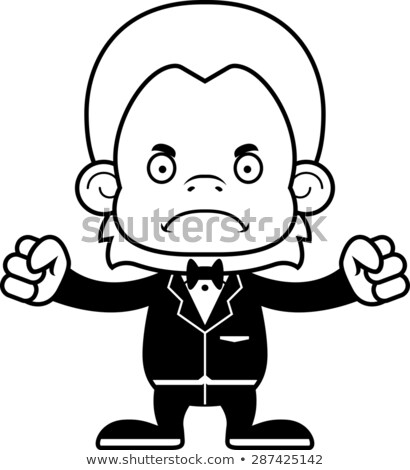 Cartoon · enojado · novio · mirando · traje · matrimonio - foto stock © cthoman