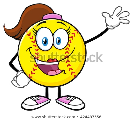 Cute softball fille accueil Photo stock © hittoon
