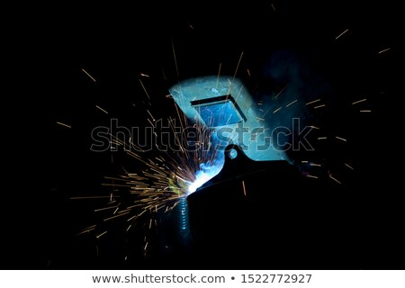 Sparks while grinding iron Stock photo © grafvision