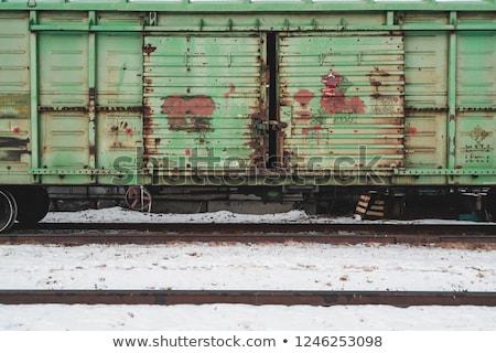 Carga ferrovia seguir inverno trem frio Foto stock © MikhailMishchenko
