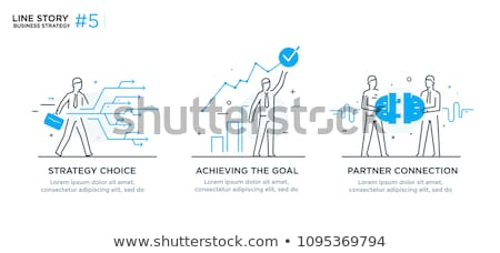 Achieve Goal Plans Set Posters Vector Illustration Stock photo © robuart