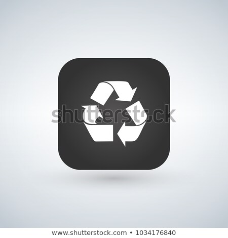 Recycle Reuse or reduce symbol over black app button. vector ill Stock photo © kyryloff