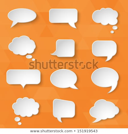 Office Paper and Thought Bubble Icons Set Vector Stock photo © robuart