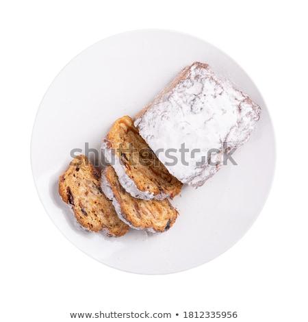 Traditional stollen cake Stock photo © YuliyaGontar