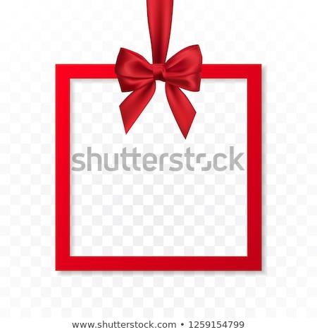 brilhante · férias · caixa · de · presente · quadro · bandeira · enforcamento - foto stock © olehsvetiukha