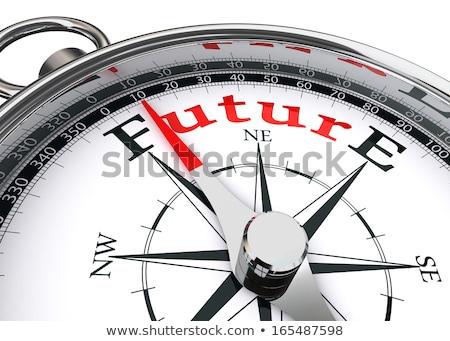 Kompas witte optimisme magnetisch naald wijzend Stockfoto © make