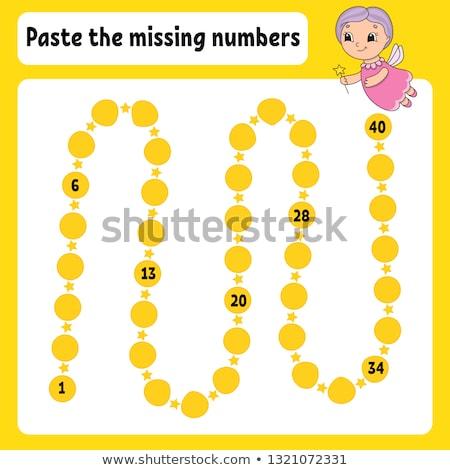 Write missing number worksheet Stock photo © colematt