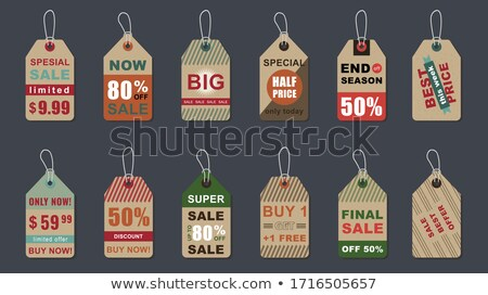 Big Sale Only This Weekend, Price Reduction Set Stock photo © robuart