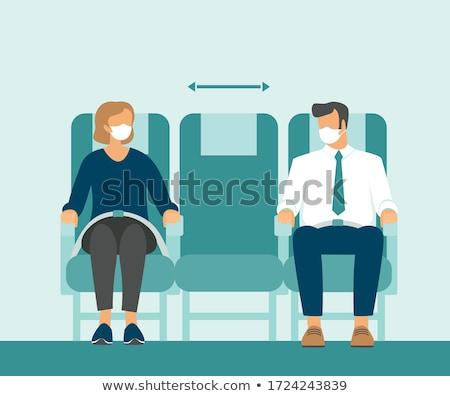 Vliegtuig zitting cabine illustratie achtergrond kunst Stockfoto © bluering
