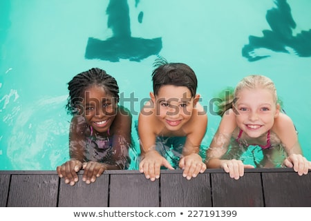 cute black boy in swimming class Stock photo © zkruger