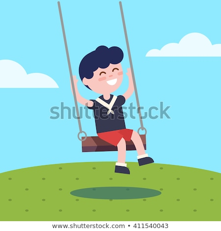 Swing vettore icona isolato bianco Foto d'archivio © smoki