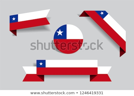Chile · zászló · matrica · illusztráció · háttér · fehér - stock fotó © colematt