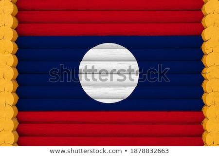 Domu banderą Laos rząd biały domów Zdjęcia stock © MikhailMishchenko