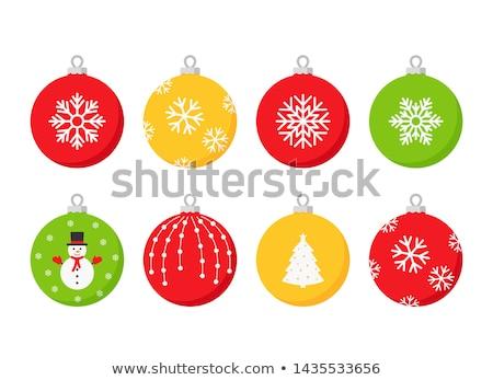 rajz · karácsony · dísz · feketefehér · illusztráció · mosolyog - stock fotó © bennerdesign