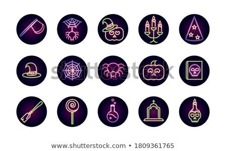 Botten neonreclame spel promotie geld ontwerp Stockfoto © Anna_leni