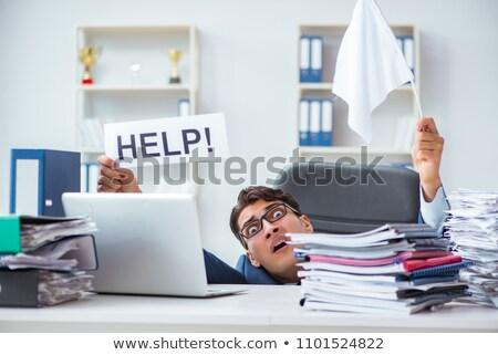 ビジネスマン · 必要 · ヘルプ · 疲れ · 小さな · 紙 - ストックフォト © andreypopov