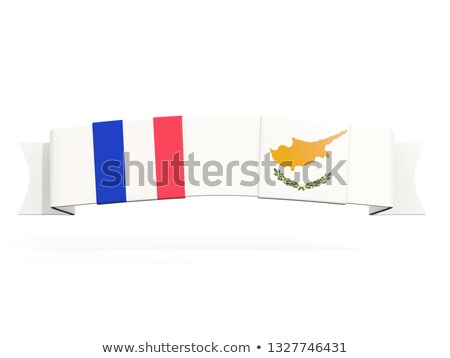Banner with two square flags of France and cyprus Stock photo © MikhailMishchenko