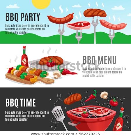 мяса · набор · иллюстрация · Cartoon · различный · частей - Сток-фото © netkov1