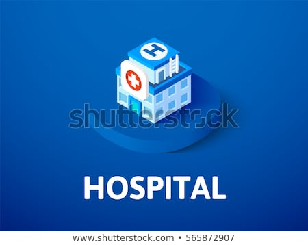 hospital or ambulance building isometric flat style vector illustration stock photo © tashatuvango