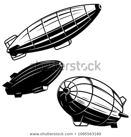 vector airship, zeppelin, dirigible Stock photo © VetraKori
