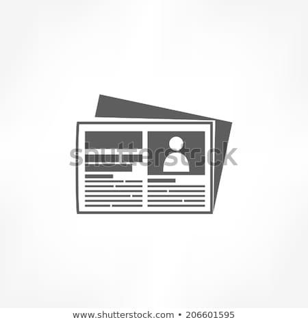 Politique journal icône gris transparent gouvernement Photo stock © romvo