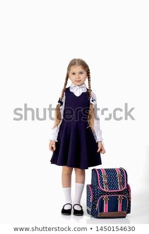 Blond haren ingesteld kaukasisch meisje Stockfoto © toyotoyo