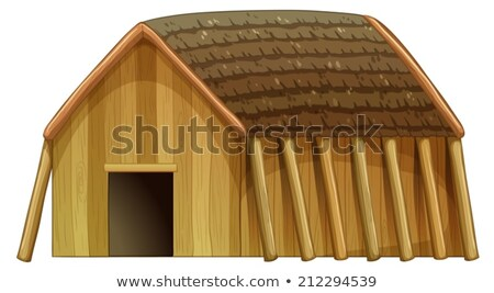 A viking's shelter Stock photo © colematt