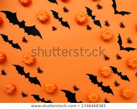 halloween flat lay background stock photo © neirfy