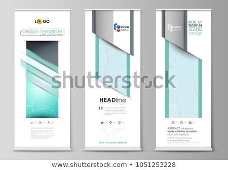 Promóciós poszter szórólap áll felfelé előadás Stock fotó © pikepicture