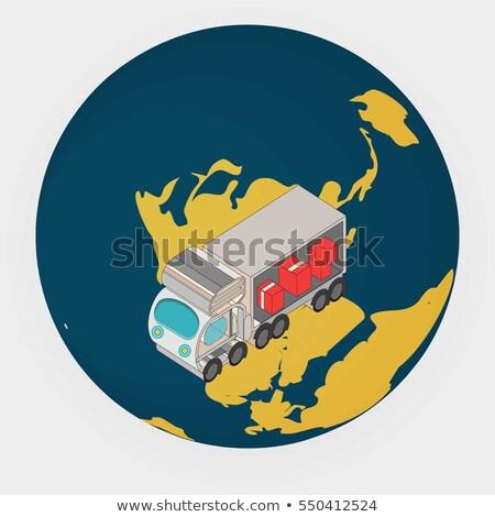 vector · Rood · auto · bagage · geïsoleerd · witte - stockfoto © robuart