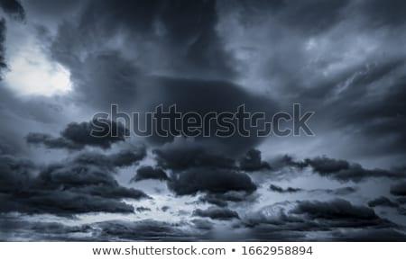 égbolt · eső · szürke · felhők · illusztráció · művészet - stock fotó © colematt